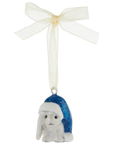 Enamel Lop Bunny Christmas Tree Decoration