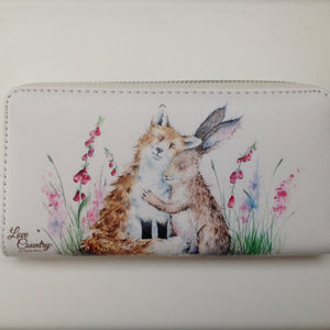 Love Country Fox & Hare Best Friends Purse - Vegan Friendly