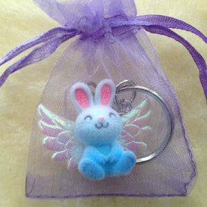 Angel Bunny Sorry For Your Loss Memorial Rabbit Keyring - 3 colours