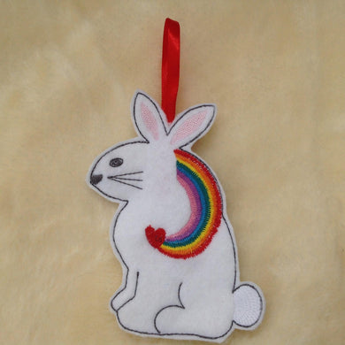 Exclusive Bunny Rabbit Rainbow Hanging Decoration