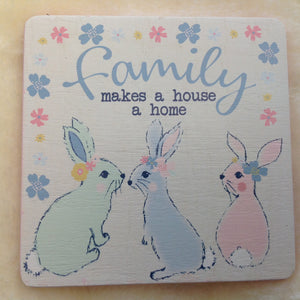 Pretty Bunny Rabbit Coasters - Assorted Designs