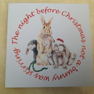 Exclusive Bunny Rabbit Night Before Christmas Card