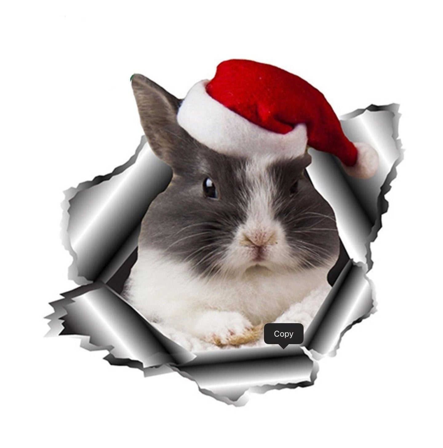 Christmas Bunny Vinyl Decals for Car, Windows, and Laptops