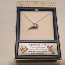 Silver Plated Hare Necklace in Gift Box - last one