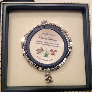 Silver Plated Hare Bracelet in Gift Box