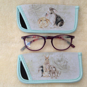 Filed & Fur Rabbit Glasses Case- 2 Designs