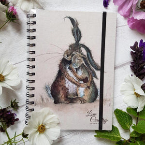 Love Country Hares My Heart Large Rabbit Notebook