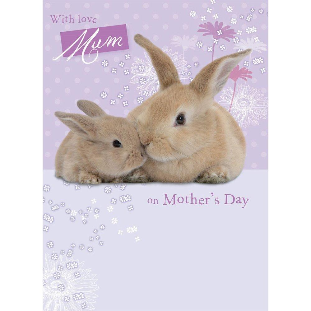 Mother's Day Bunny Rabbit Card
