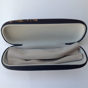 Navy & Gold Hare Glasses Case
