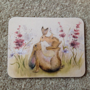 Precious One Mother & Daughter Rabbit Coaster
