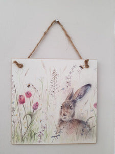 Spring Is Hare Forever Wooden Card/Plaque