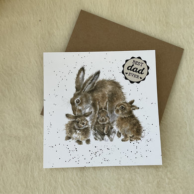 Wrendale Designs Furever & Always Father's Day Bunny Rabbit Card