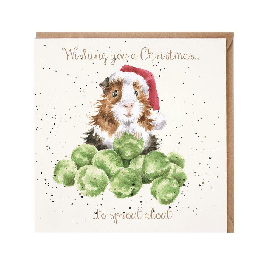 Wrendale Designs Guinea Pig Christmas Card