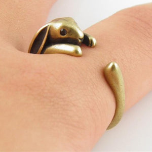 Adjustable Bunny Rabbit Brass Colour Ring