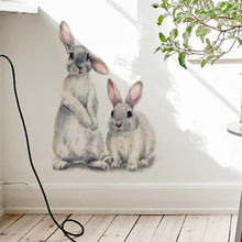 Large Bunny Rabbit Vinyl Decal for Walls and Windows