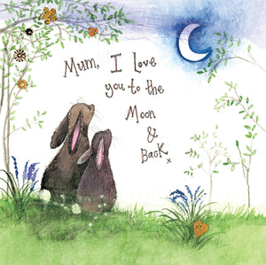 Alex Clark Mum Moon & Back Rabbit Card