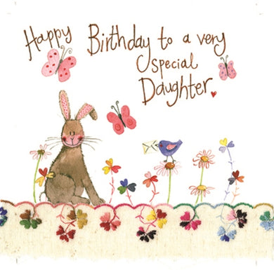Alex Clark Bunny Special Daughter Birthday Card