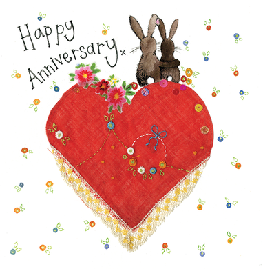 Alex Clark Happy Anniversary Rabbit Card