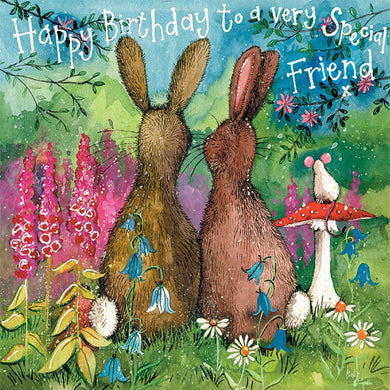 Alex Clark Happy Birthday Special Friend Rabbit Card