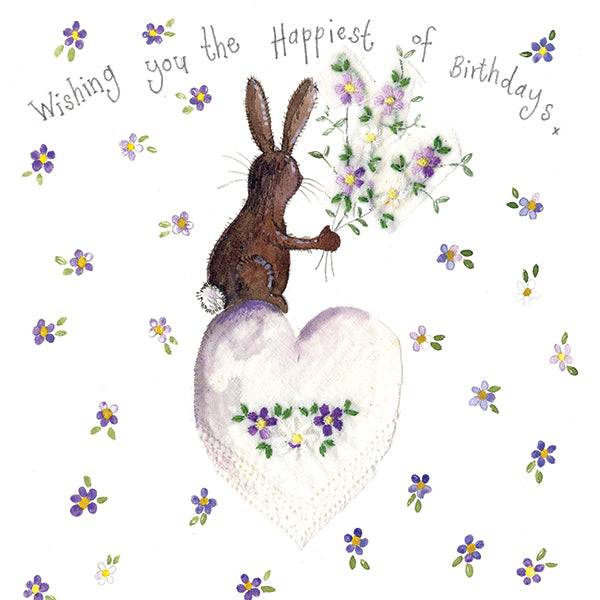 Alex Clark Happiest Birthday Rabbit Card