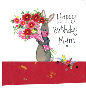 Alex Clark Happy Birthday Mum Rabbit Card