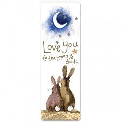 Alex Clark Moon & Back Bunny Magnetic Bookmark