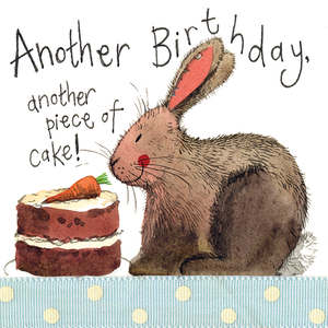 Alex Clark Birthday Cake Bunny Rabbit Card