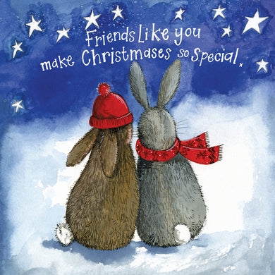 Alex Clark Special Friend Bunny Christmas Card