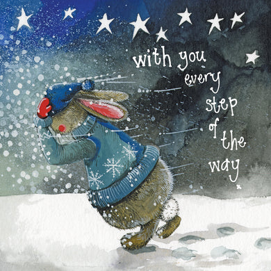 Alex Clark Footsteps Sympathy Bunny Rabbit Card
