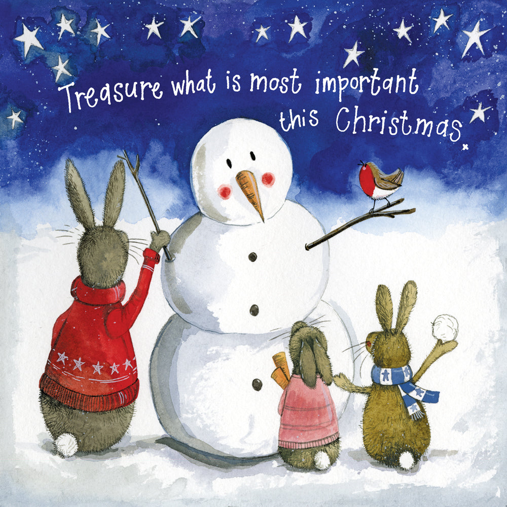 Alex Clark Treasure Bunny Rabbit Christmas Card