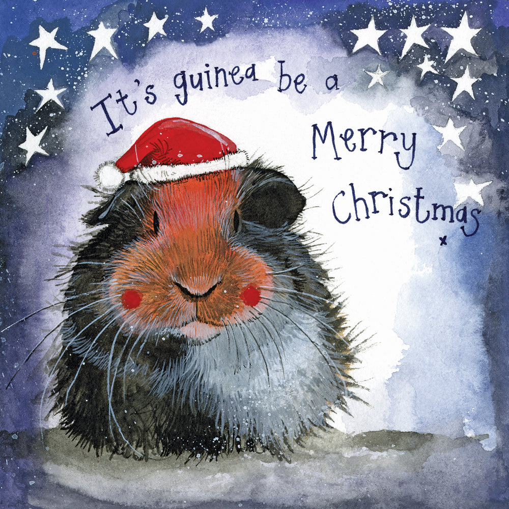 Alex Clark Guinea Pig Christmas Card