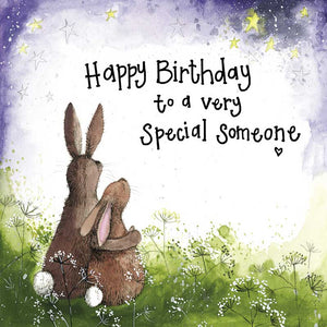 Alex Clark A Very Special Someone Rabbit Birthday Card