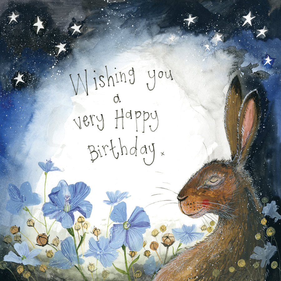 Alex Clark Happy Birthday Hare Card