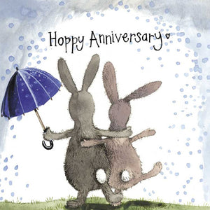Alex Clark Hoppy Anniversay Bunny Rabbit Card