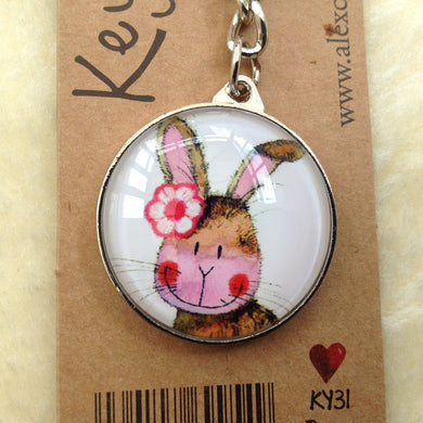 Alex Clark Bunny Rabbit Keyring- 2 Designs