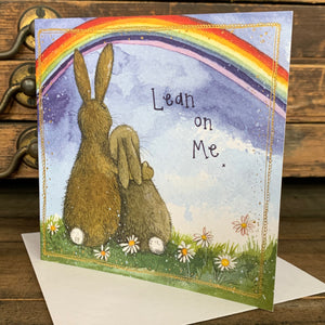 Alex Clark Lean On Me Bunny Rabbit Card