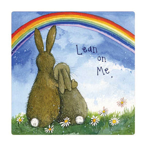 Alex Clark Lean On Me Bunny Rabbit Fridge Magnet