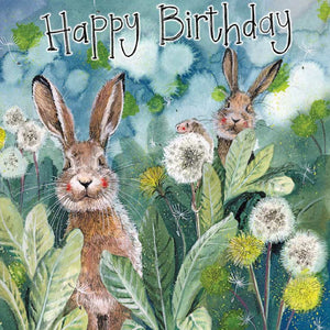 Alex Clark Little Bunny Rabbits Happy Birthday Card
