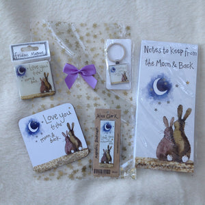 Alex Clark Love You Yo The Moon And Back Bunny Rabbit Stationery Gift Set