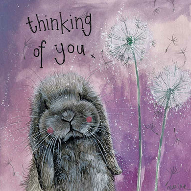 Alex Clark Misty Thinking Of You Lop Bunny Rabbit Card