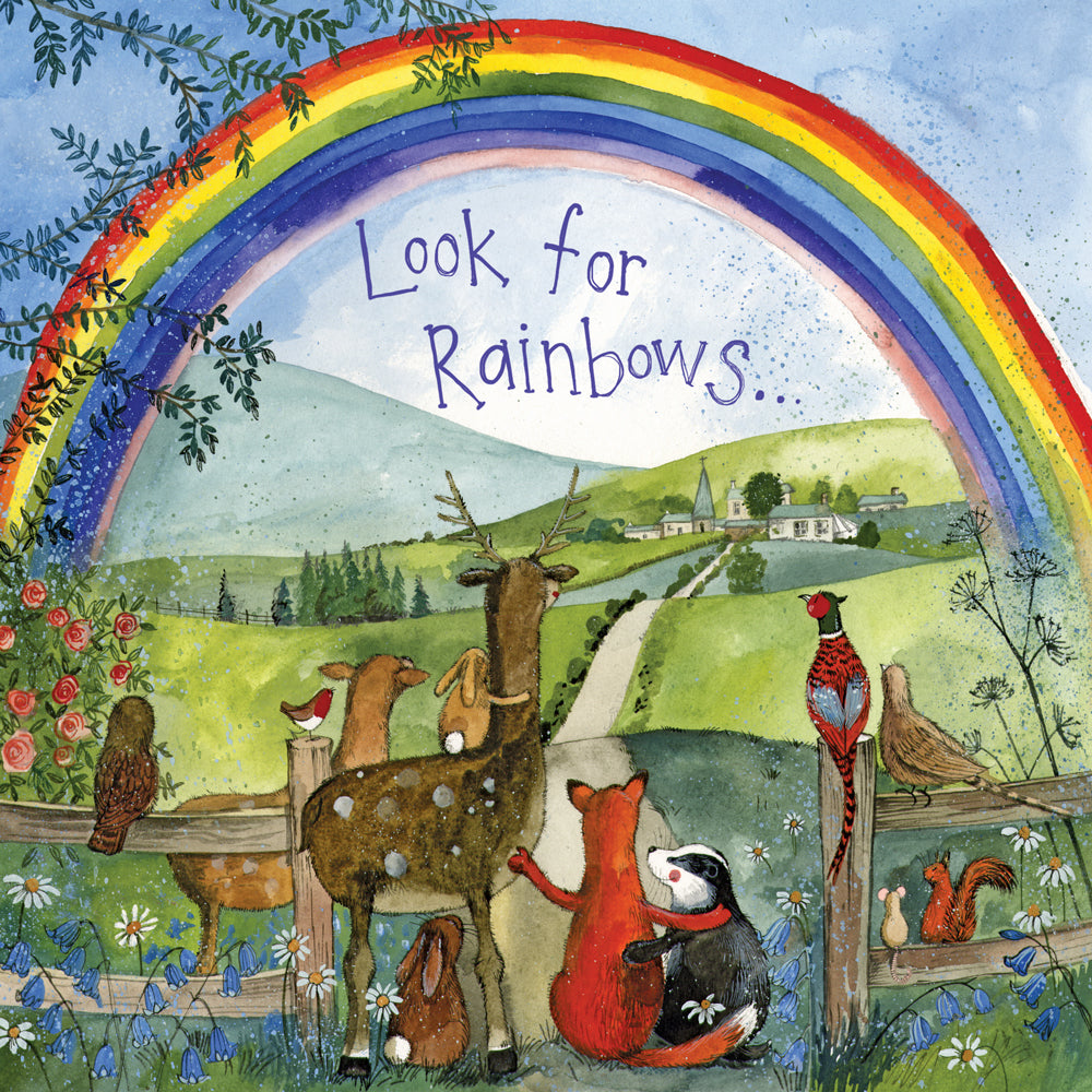 Alex Clark Look For Rainbows Bunny Rabbit Card