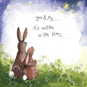 Alex Clark You & Me Bunny Rabbit Card
