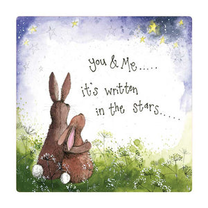 Alex Clark You & Me Bunny Rabbit Fridge Magnet