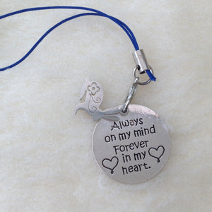 Always On My Mind Memorial Rabbit Charm - 2 Designs