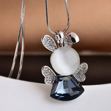 Angel Bunny Memorial Sweater Necklace