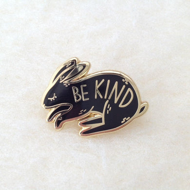 Be Kind Bunny Rabbit Welfare Brooch/Pin/badge