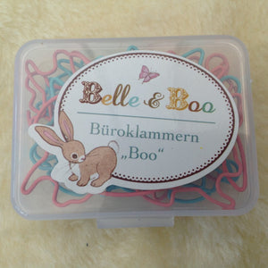 Belle & Boo Bunny Shaped Paper Clip Box