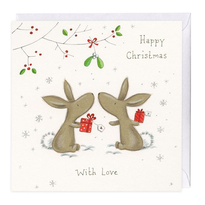 Happy Christmas Bella Bunny Christmas Card