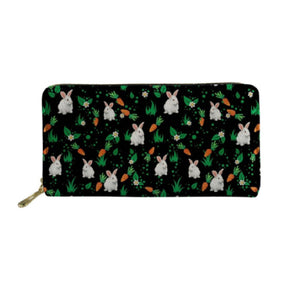 Black Bunny Rabbit Carrot Purse or Phone Case