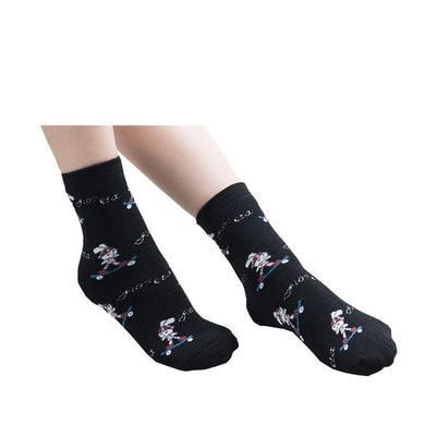 Skate Boarding Bunny Rabbit Ladies Socks